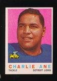 1959 Topps Football Card #21 Charlie Ane Detroit Lions