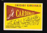 1959 Topps Football Card #24 Chicago Cardinals Pennant Card