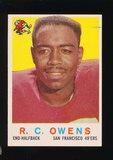 1959 Topps Football Card #33 R.C. Owens San Francisco 49ers