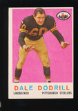 1959 Topps Football Card #34 Dale Dodrill Pittsburgh Steelers