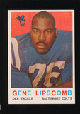 1959 Topps ROOKIE Football Card #36 Rookie Gene Lipscomb Baltimore Colts