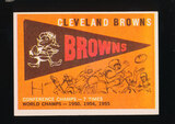 1959 Topps Football Card #38 Cleveland Browns Pennant Card