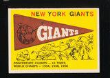 1959 Topps Football Card #53 New York Giants Pennant Card