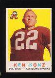 1959 Topps Football Card #54 Ken Konz Cleveland Browns