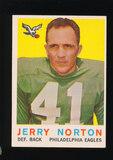 1959 Topps Football Card #79 Jerry Norton Philadelphia Eagles