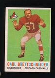 1959 Topps Football Card #81 Carl Brettschneider Chicago Cardinals
