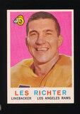 1959 Topps Football Card #84 Hall of Famer Les Richter Los Angeles Rams