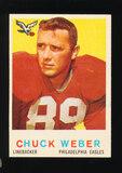 1959 Topps Football Card #94 Chuck Weber Philadelphia Eagles