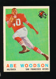 1959 Topps Football Card #102 Abe Woodson San Francisco 49ers