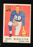 1959 Topps Football Card #113 Dave Middleton Detroit Lions