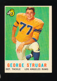 1959 Topps Football Card #121 George Strugar Los Angeles Rams