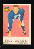 1959 Topps Football Card #122 Bill Glass Detroit Lions