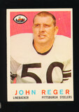 1959 Topps Football Card #124 John Reger Pittsburgh Steelers
