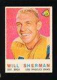 1959 Topps Football Card #127 Will Sherman Los Angeles Rams