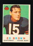 1959 Topps Football Card #137 Ed Brown Chicago Bears