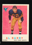 1959 Topps Football Card #138 Al Barry New York Giants