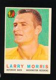 1959 Topps Football Card #141 Larry Morris Washington Redskins