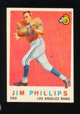 1959 Topps Football Card #142 Jim Phillips Los Angeles Rams