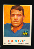 1959 Topps Football Card #143 Jim David Detroit Lions