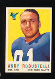 1959 Topps Football Card #147 Hall of Famer Andy Robustelli New York Giants