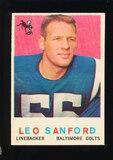 1959 Topps Football Card #149 Leo Sanford Baltimore Colts
