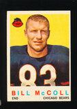 1959 Topps Football Card #151 Bill McColl Chicago Bears