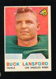 1959 Topps Football Card #152 Buck Lansford Los Angeles Rams