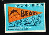 1959 Topps Football Card #153 Chicago Bears Pennant Card