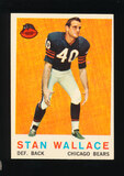 1959 Topps Football Card #159 Stan Wallace Chicago Bears
