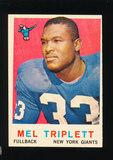1959 Topps Football Card #160 Mel Triplett New York Giants