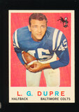 1959 Topps Football Card #163 L.G. DuPre Baltimore Colts