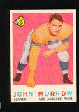 1959 Topps Football Card #164 John Morrow Los Angeles Rams
