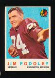 1959 Topps Football Card #165 Jim Podoley Washington Redskins