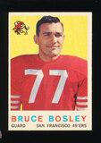 1959 Topps Football Card #166 Bruce Bosley San Francisco 49ers