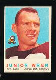 1959 Topps Football Card #169 Junior Wren Cleveland Browns