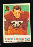 1959 Topps Football Card #172 Chuck Drazenovich Washington Redskins