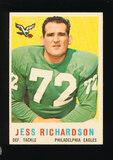 1959 Topps Football Card #174 Jess Richardson Philadelphia Eagles