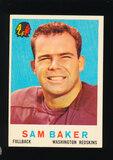 1959 Topps Football Card #175 Sam Baker Washington Redskins