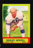 1963 Topps Football Card #29 Harley Sewell Detroit Lions