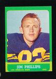 1963 Topps Football Card #41 Jim Phillips Los Angeles Rams