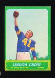 1963 Topps Football Card #45 Lindon Crow Los Angeles Rams