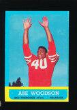 1963 Topps Football Card #141 Abe Woodson San Francisco 49ers