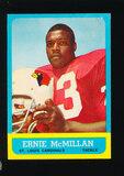 1963 Topps Football Card #152 Ernie McMillian St Louis Cardinals