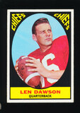 1967 Topps Football Card #61 Hall of Famer Len Dawson Kansas City Chiefs
