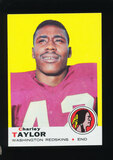 1969 Topps Football Card #67 Hall of Famer Charley Taylor Washington Redski