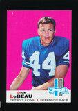 1969 Topps Football Card #76 Hall of Famer Dick LeBeau Detroit Lions