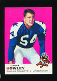1969 Topps Football Card #97 Chuck Howley Dallas Cowboys