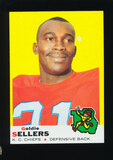 1969 Topps Football Card #119 Goldie Sellers Kansas City Chiefs