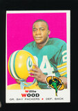 1969 Topps Football Card #168 Hall of Famer Willie Wood Green Bay Packers