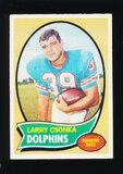 1970 Topps Football Card #162 Hall of Famer Larry Czonka Miami Dolphins